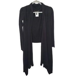 BCBGMaxAzria Silk Cashmere Blend Wrap Sweater